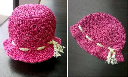 Shell Stitch Sun Hat