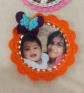 Recycled Tin Lids into Photo Frames