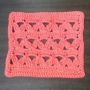 Dishcloth - Rickracks stitch