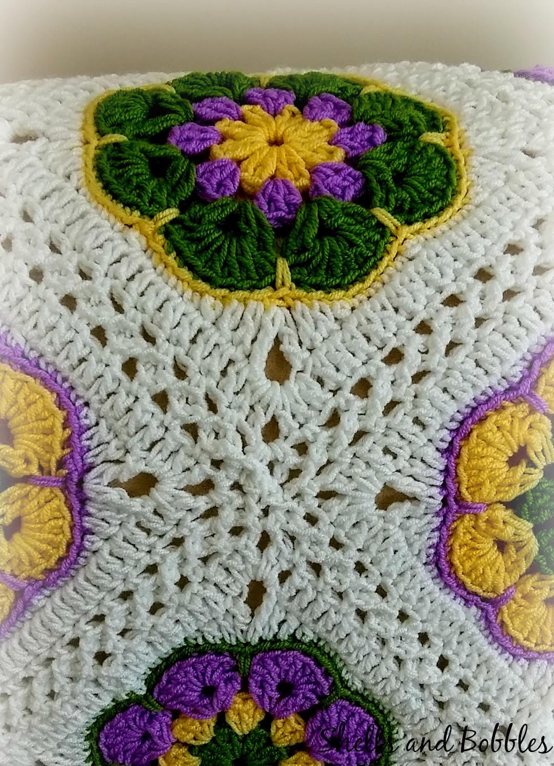 African Flower Crochet Baby Blanket Pattern : African Flower Square Baby Blanket Shells & Bobbles