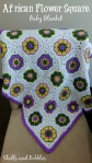 AfricanFlower Square Baby Blanket